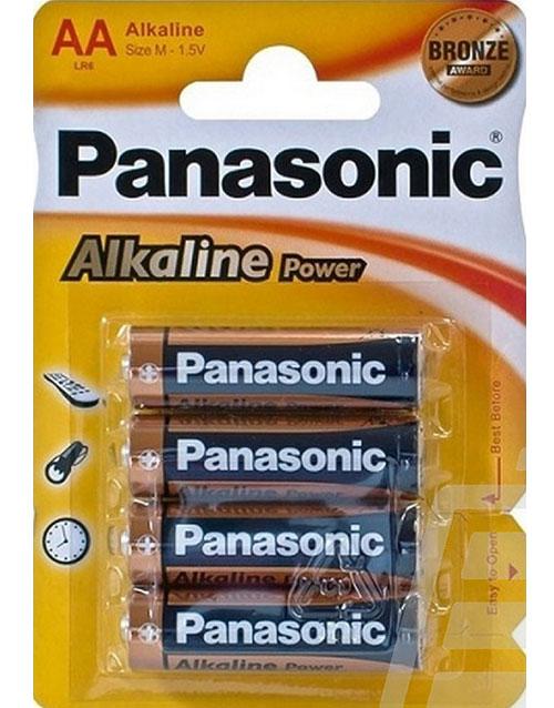 """Bilde av """"4 stk Panasonic AA Alkaline Batterier"""""""