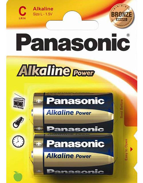 """Bilde av """"2 stk Panasonic C Alkaline Batterier"""""""